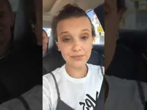 Millie Bobby Brown - Instagram Livestream 07-13-2017