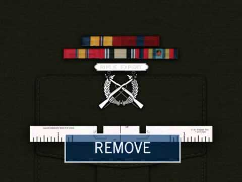 Dress blue alphas single medal placement on marine