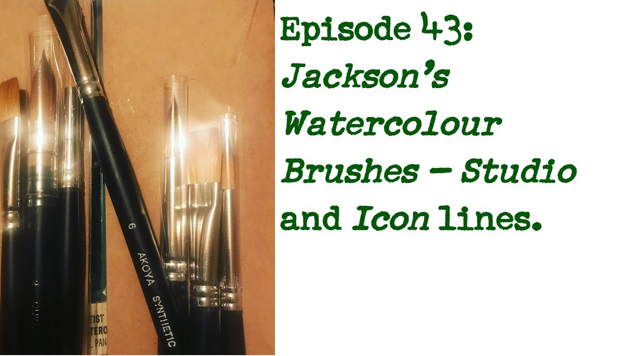 Round Studio Synthetic Watercolour Brush Size 0 Jacksons