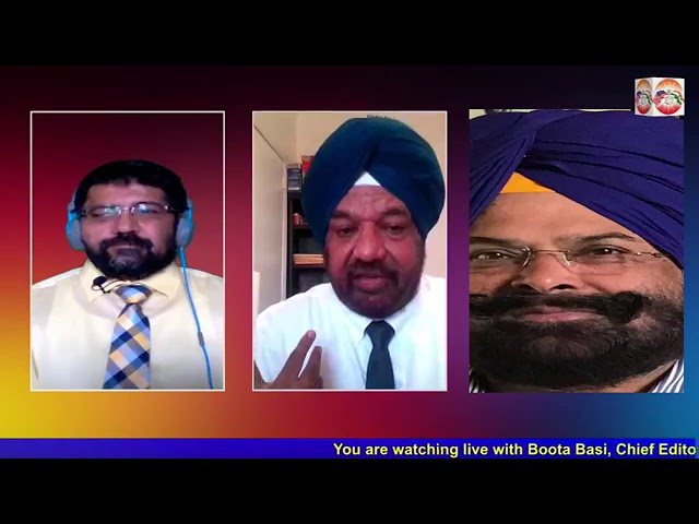 Live talk show with Satpal Brar and Gurmeet Singh Apna Punjab by Boota Basi on Sikhs for Justice