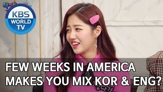 Few weeks in America makes you mix Korean and English? [Happy Together
