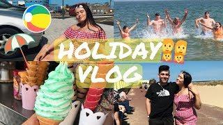 FAMILY HOLIDAY VLOG | Beach Fun, Mini Golf & Fair Rides! | Part One