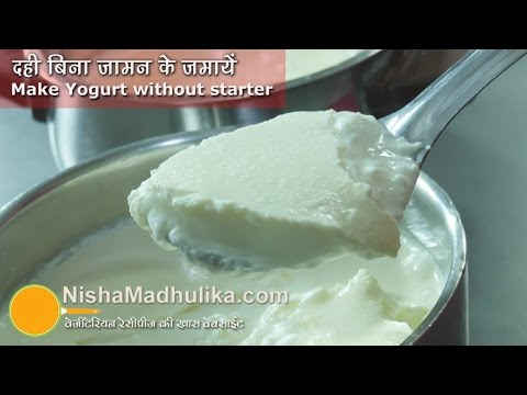 Making Dahi without starter - Make Curd without the Jaman - Yogurt without yogurt culture