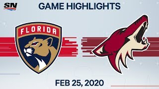 NHL Highlights | Panthers vs. Coyotes - Feb. 25, 2020