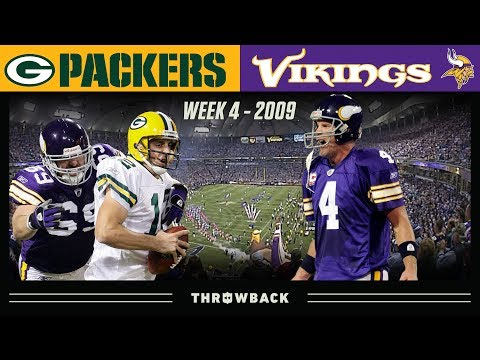 Favre's FIRST Game Against Packers! (Packers vs. Vikings 2009, Week 4)