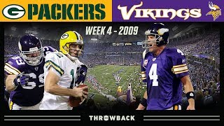 Favre's FIRST Game Against Packers! (Packers vs. Vikings 2009, Week 4)
