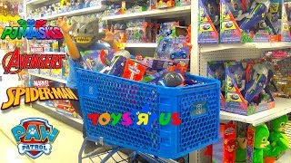 "NEW TOYS ""R"" US SHOPPING for PJ Masks Paw Patrol Spider Man Toys and More With TBTFUNTV"