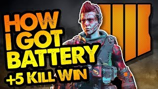 HOW I GOT BATTERY! + Won Game! // COD Black Ops 4 // PS4 Pro // Call of Duty Blackout