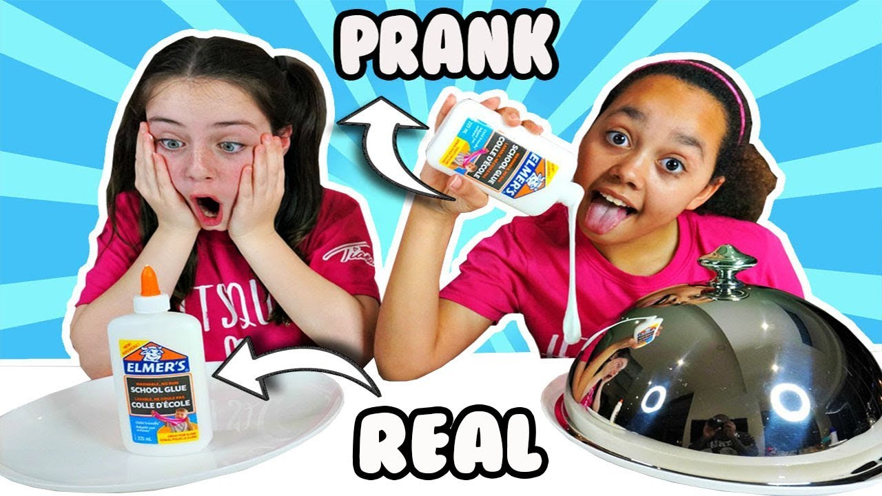 Real Vs Prank Slime Challenge Youtube