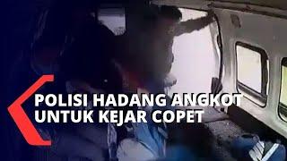 Kejar Pencopet, Polisi Hadang Angkot di Jalan Raya