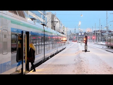 Helsinki - Kannelmäki Train Raid in Snow (Finland by Train)