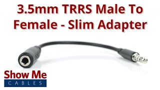 3.5mm TRRS Male To Female Slim Adapter - Perfect For Smartphones #3882!