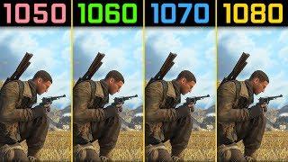 Sniper Elite 4 GTX 1050 Ti vs. GTX 1060 vs. GTX 1070 vs. GTX 1080 [1080p]