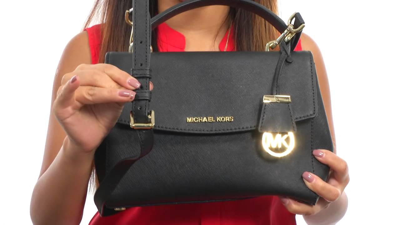 a5d9bf779e35 MICHAEL Michael Kors Ava Small Top-Handle Satchel SKU 8575570 - YouTube