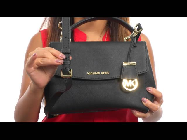 d644baad25a7 MICHAEL Michael Kors Ava Small Top-Handle Satchel SKU:8575570 - YouTube