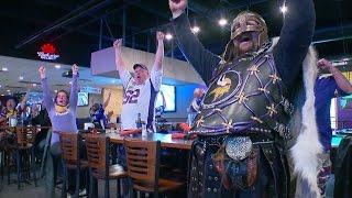 Vikings Fan Celebrate On Turkey Game Day