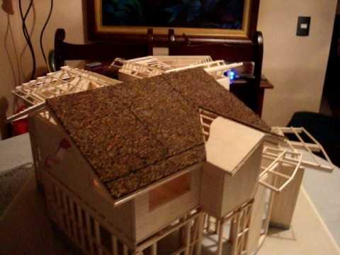 Maqueta vivienda en madera monik y henry youtube for Fabrica de bares de madera