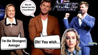 Avengers: Endgame | Chris Hemsworth and Brie Larson  Funny Feud Moments | 2019