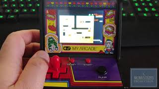 MyArcade Dig Dug Mini Arcade Review with Gameplay footage