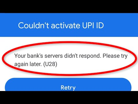 Fix Couldn't Activate UPI ID || Your Bank's Servers Didn't  Respond || Google Pay Error
