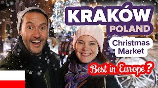 Magical Christmas Market in Kraków Poland. Must Visit! Best Christmas Market in Europe.