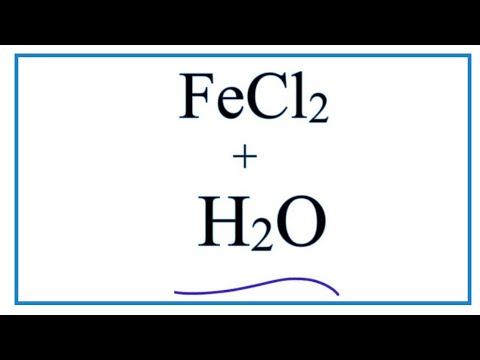 Equation For FeCl2 + H2O  (Iron (II) Chloride + Water)