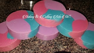 Making & Cutting cp soap using a pringles can as a mold!!