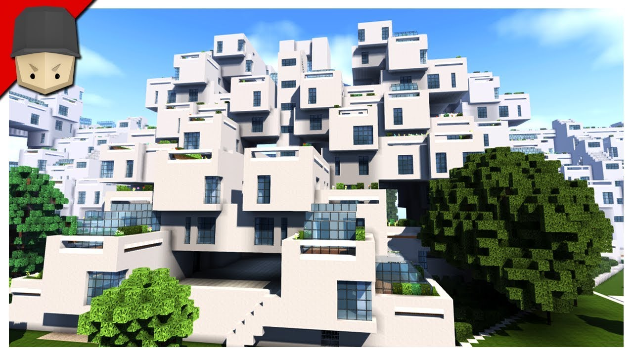 Lovely Minecraft   Crazy Apartment Complex! (Habitat 67 Montreal)