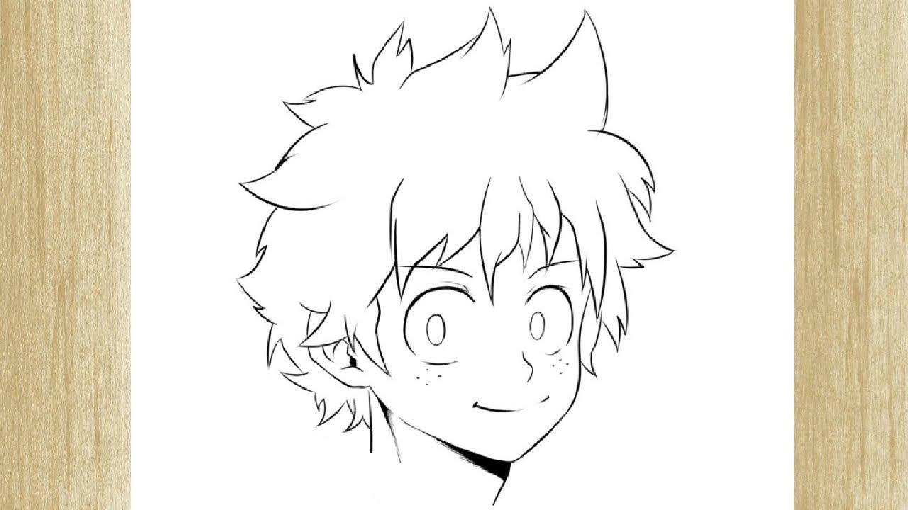 How To Draw Izuku Midoriya From Boku No Hero Como Desenhar O Midoriya From Boku No Hero