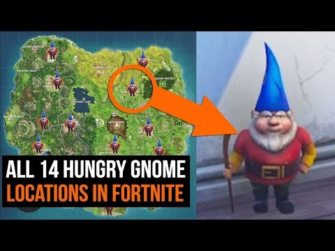 All 14 Hungry Gnome Locations In Fortnite - Season 4 Challenges