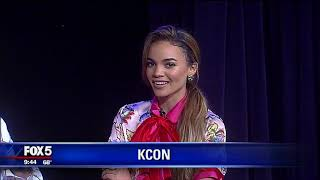 The K-Pop band @SuperJunior and @lesliegrace were on Fox 5's Good D...