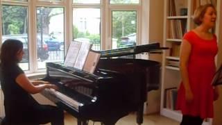 Schönberg: 4 Lieder Op. 2, I. Erwartung Sarah Dacey, soprano Belinda Jones, piano