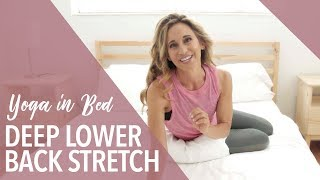 Deep Lower Back Bed Stretch  Yoga in Bed  Nora Day