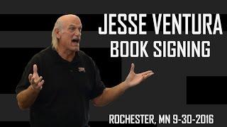 Jesse Ventura Book Signing, Barnes & Noble Rochester, MN 9-30-2016