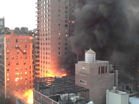 Ramaz Synagogue on fire location 85th st & Lex. NYC
