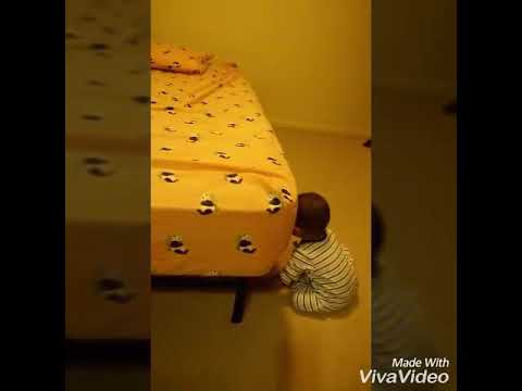 8 Months Old Baby Loves Falling From Bed!