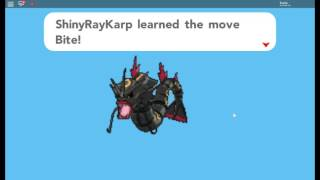 Roblox Pokemon Brick Bronze Evolving First Shiny Rayquaza Magikarp