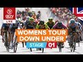 RACE REPLAY Santos Women's Tour Down Under 2020 Stage 1 LIVE   Ziptrack Stage 1