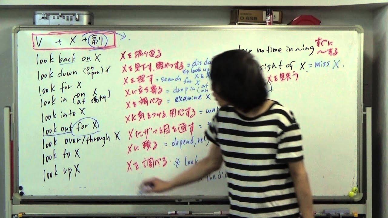 入試に役立つ英熟語 第54回 LOOKから始まる単語を使った熟語