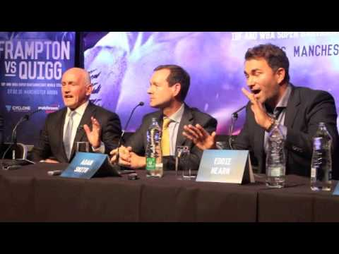 THE MOMENT WHEN BARRY McGUIGAN CALLED EDDIE HEARN 'AN ASSHOLE' IN MIDDLE OF BELFAST PRESS CONFERENCE