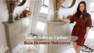 Ikea Hemnes Shoe Cabinet Makeover, Small Hallway Storage Update!