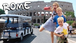 One Suitcase, Four Kids - Golf Cart Tour of Rome - Episode 10