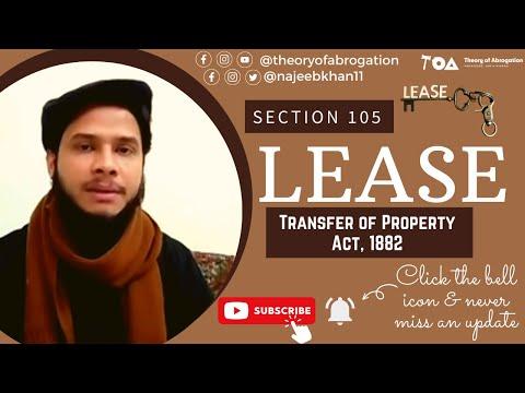 Lease: Sec. 105 TPA