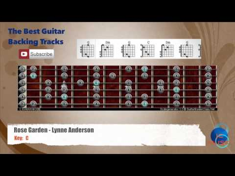 Rose Garden - Lynne Anderson Guitar Backing Track with scale and chords