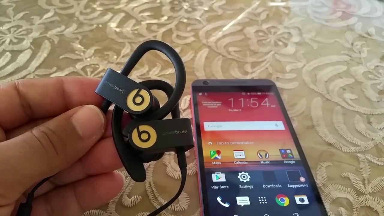 78a22ee4804 How to pair Powerbeats 3 to HTC Android Phone - YouTube
