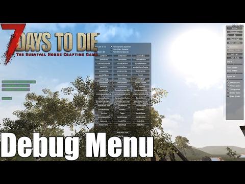 7 Days To Die - Debug Menu, Spawn Zombies, Teleport, Control Time