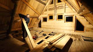 Building Off Grid LOG CABIN / Insulating and Closing the Cabin (S 2 Ep 20)