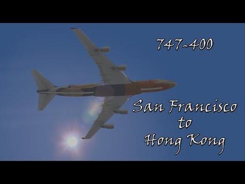 San Francisco KSFO to Hong Kong VHHH SQ1 747-400 Singapore Airlines IVAO FS2004