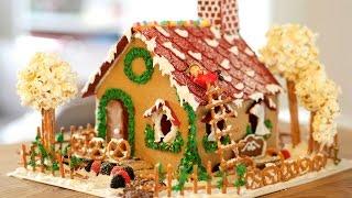 How to make GINGERBREAD HOUSE (Cookie Recipe, Icing, Decor) - Cách làm nhà bánh gừng
