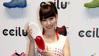 元AKB48の増田有華さんが3月28日、東京都内で行われたシューズブランド...
